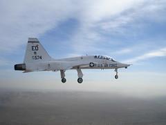 aviation, airplane, vehicle, fighter aircraft, northrop t-38 talon, jet aircraft, flight, air force,