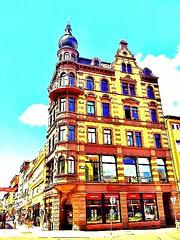 #Building on a #corner in #Eisenach #city.