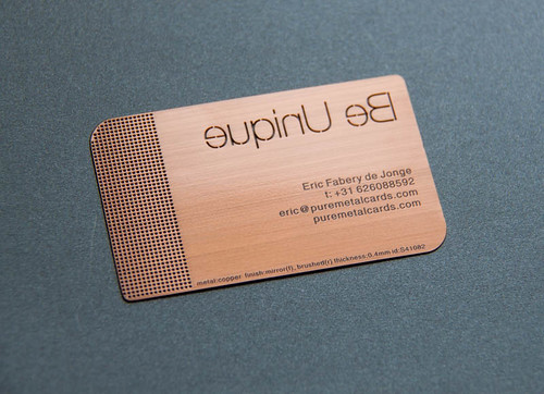 Pure Metal Cards Brushed Copper