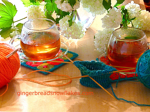 Afternoon Tea and Craft on the Patio