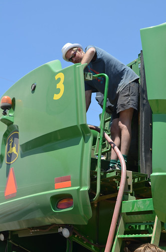 Martin fills the combine up