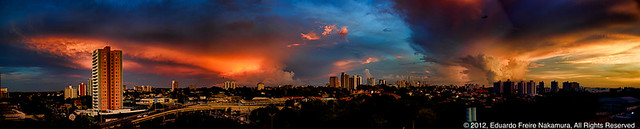 Panorama view of the sky (Manaus, Amazon, Brazil)
