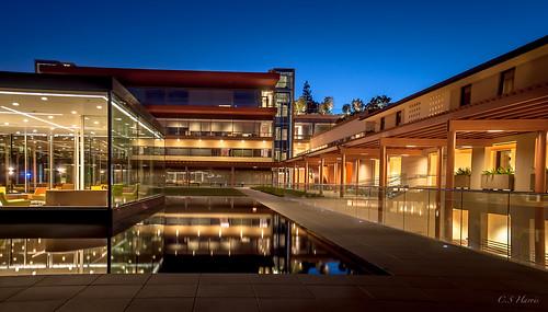 california sunset architecture reflections landscape claremont claremontcollege pomonacollege kraviscenter