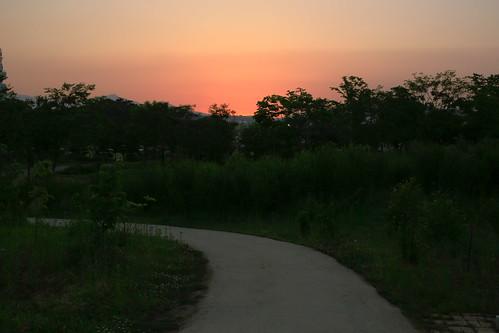 park sunset night way landscape lucas clear cannon 동형