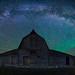 North Moulton Barn Milky Way by David Kingham