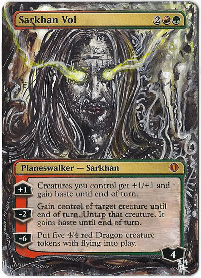 Sarkhan Vol Altered Art Magic the Gathering MTG Card Art by Ondal the Fool