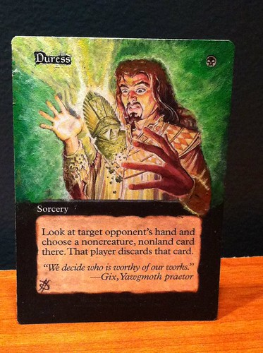 Duress Altered Art magic the gathering card mtg artwork duress alter Jacob Honor alters