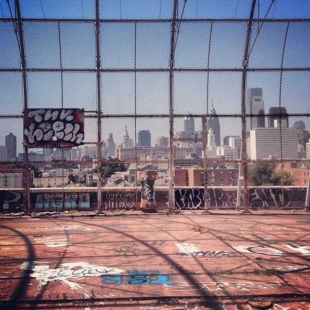 Center City from the rooftop basketball court