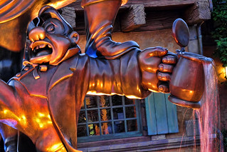 Lefou Outside of Gaston's Tavern