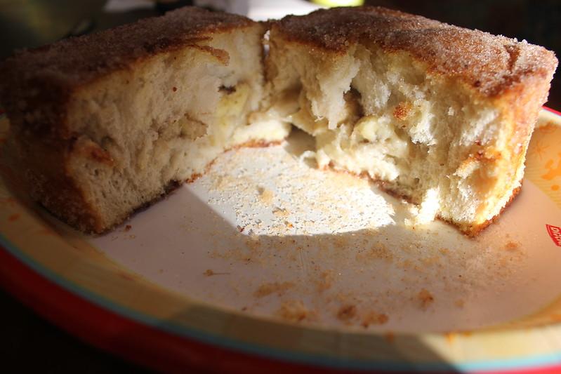Banana Stuffed Tonga Toast
