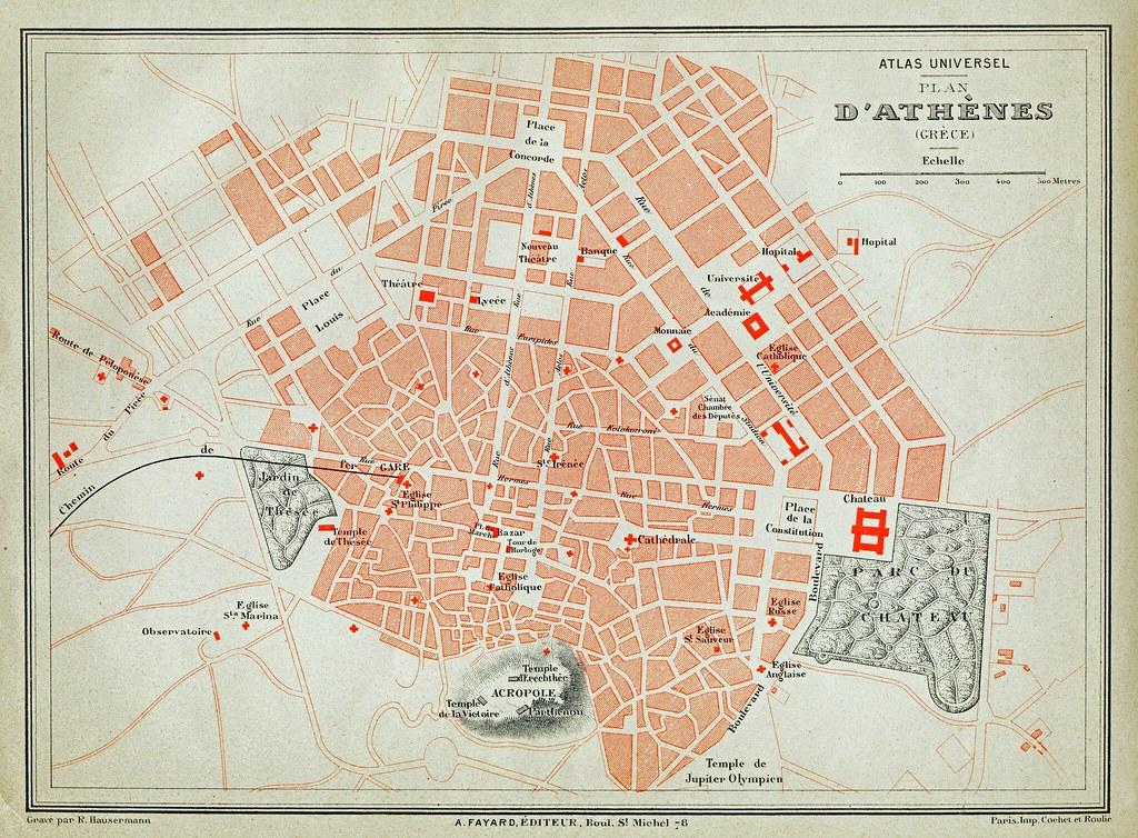 Plan d'Athenes, Fayard 1878