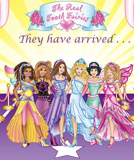 "A bunch of pretty princesses stand under text reading ""tooth fairy"""