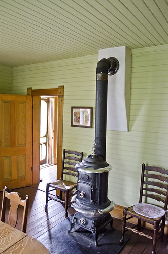 looking N at entrance to dining room - Tinsley Living Farm - Museum of the Rockies - 2013-07-08
