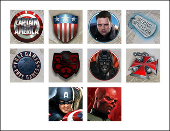free Captain America - The First Avenger slot game symbols