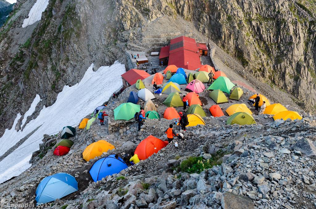 20130803 穂高岳山荘のテントサイト
