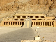 #21   Mortuary Temple of Hatshepsut   near Luxor, Egypt   New Kingdom - 18th Dynasty   1,473 - 1,458 B.C.E.   _____________________   Content: The temple is a rock-cut tomb that is for the most part cut out of the surrounding limesto...