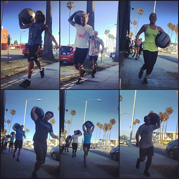 Med Ball Mania! #sofun #medballmania #medicineballs #competitionday #crossfit