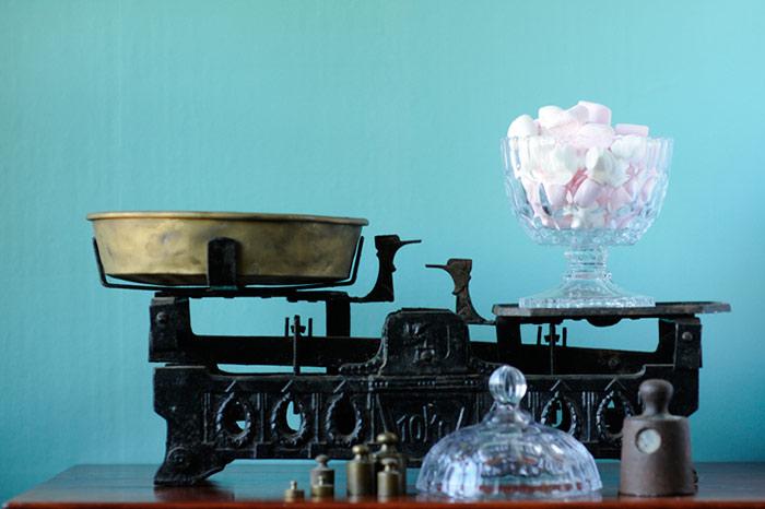 Flea Market Finds - Vintage Scale and Glass Jar