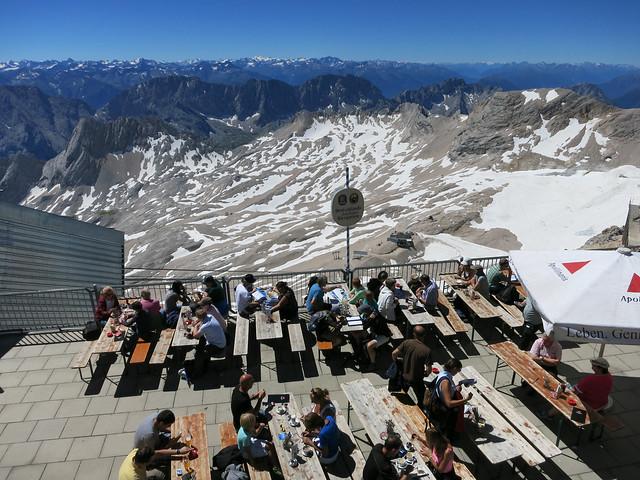 Biergarten on Zugspitze