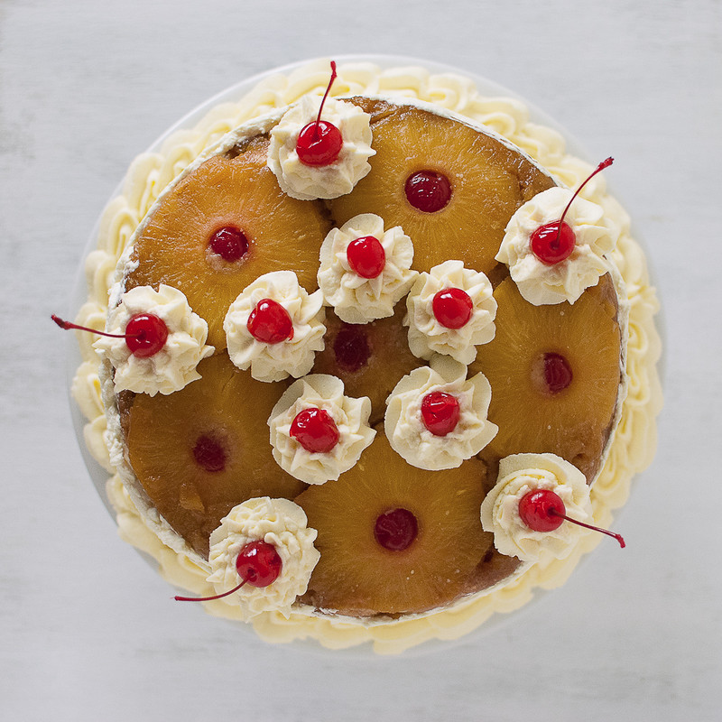 9691130517 46c1e3c45c c Three Layer Pineapple Upside Down Cheesecake Cake