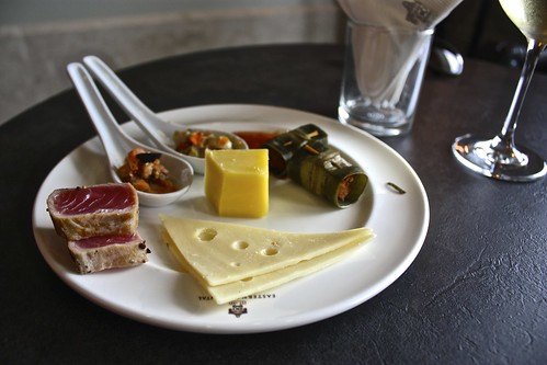 Complimentary snacks at Eastern & Oriental Hotel's inclusive happy hour
