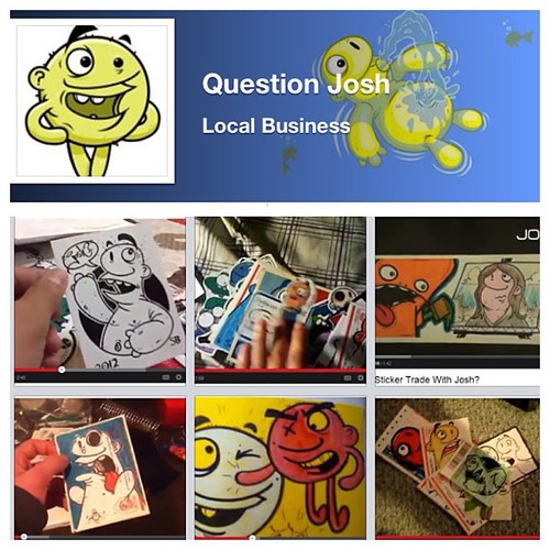 Facebook vs YouTube! I posted some fan made videos of people opening my sticker packs. Just search for 'question josh' on Facebook and follow me there! #questionjosh #youtube #facebook #stickers #stickerart #stickerporn