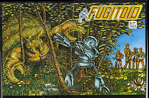 "The Original ""FUGITOID #1"" i // .. entire wrap-around cover by Eastman and Laird   (( 1985 ))"