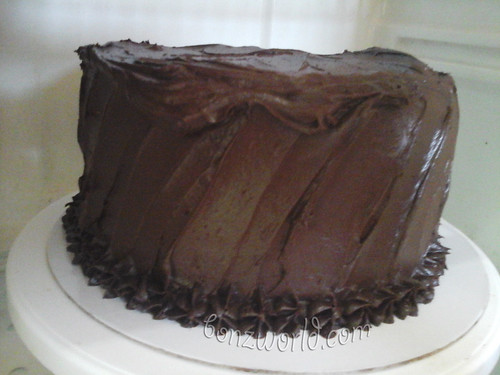 final chocolate chiffon cake