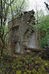 collapsed winch house, Barcombe Colliery