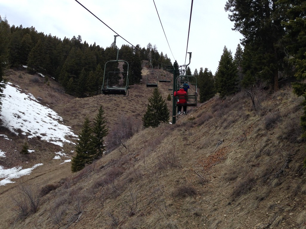 On the Chairlift at Cold Springs