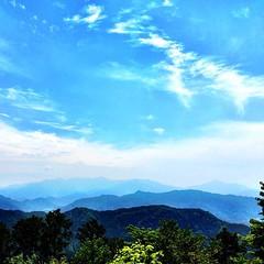 Hazy #mountain ridges