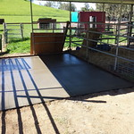 Concrete Slab For Shearing Pen In Vacaville