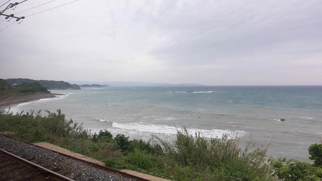 Surfers near Tanabe