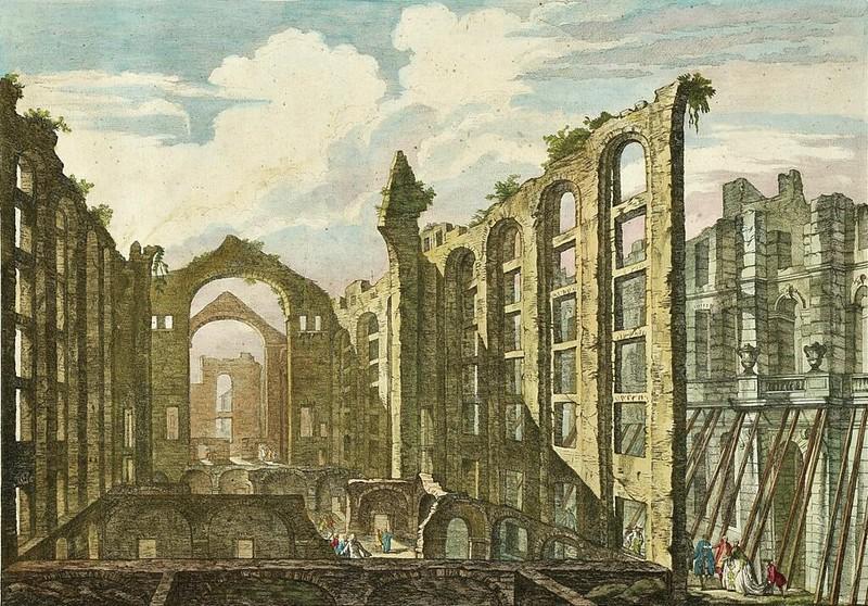 Ruins of the Church of Saint Nicholas, following the 1755 Lisbon earthquake