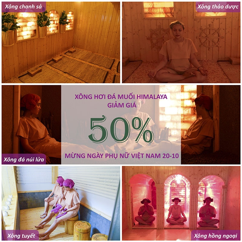The Holiday – Spa & Massage – Khuyến mãi 50% Sauna dịp 20/10