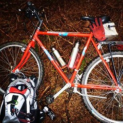 Bug Out #Bike with #EDC #backpack and gear for the long ride on muddy hills.  #cycling #bicycle #followme #SurvivalBros #oregon #preppers #community