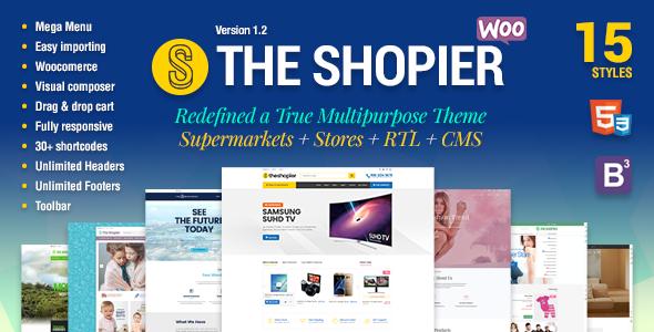 Shopier v1.4.0 - Responsive Multipurpose WordPress WooCommerce Theme