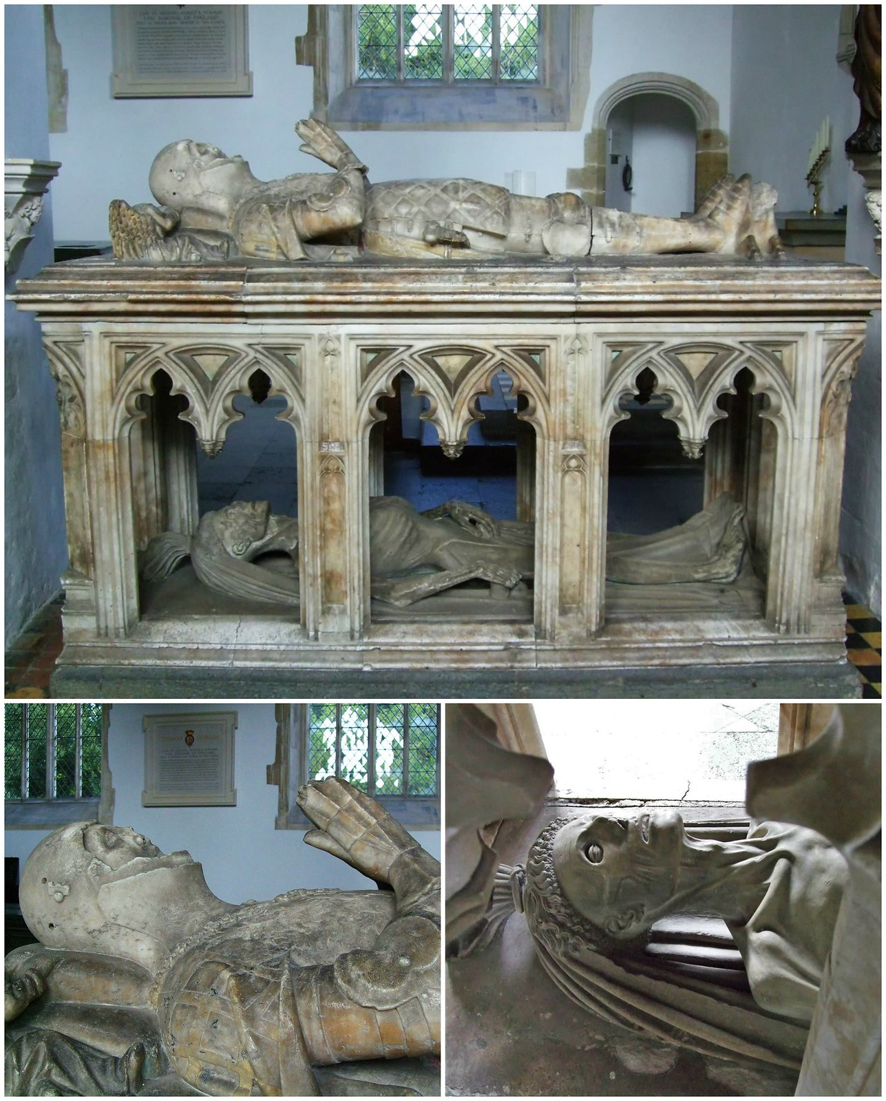 Tomb and effigy of John FitzAlan, 14th Earl of Arundel (died 1435), in the Fitzalan Chapel at Arundel. Credit Lampman