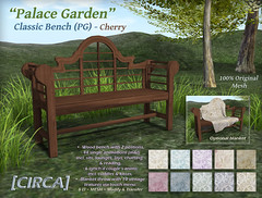 "@ The Old Fair - [CIRCA] - ""Palace Garden"" - Classic Bench (PG) - Cherry"