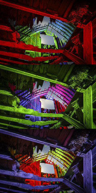 RGB Timbers Triptych VI