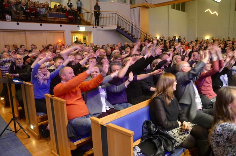 Publiken i hänförelse