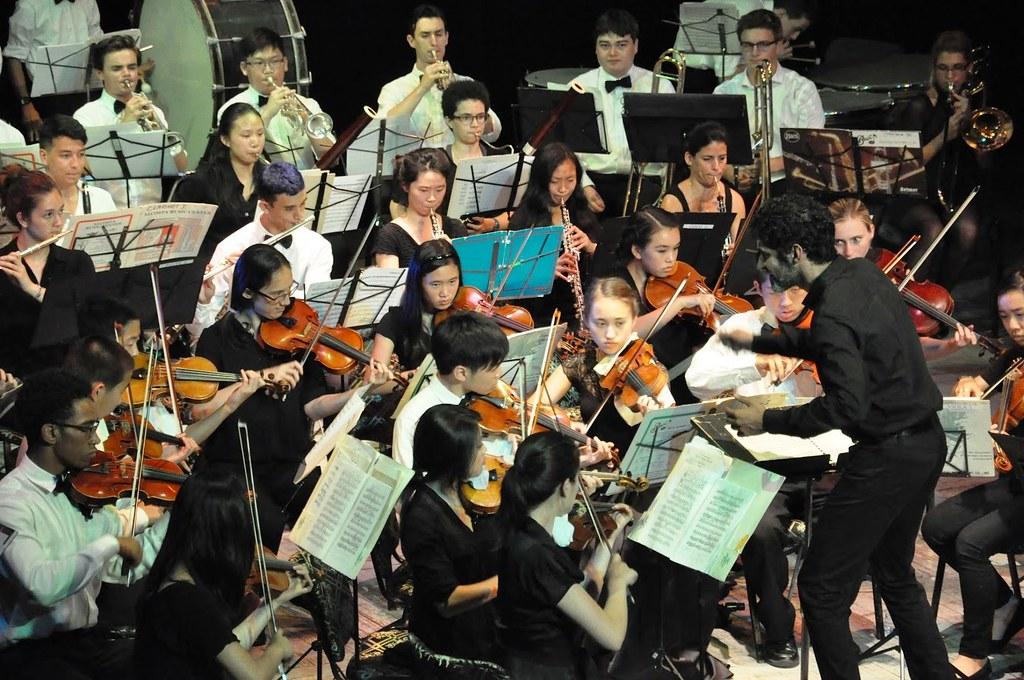 Oakland Symphony Youth Orchestra performs in Teatro La Caridad in Santa Clara