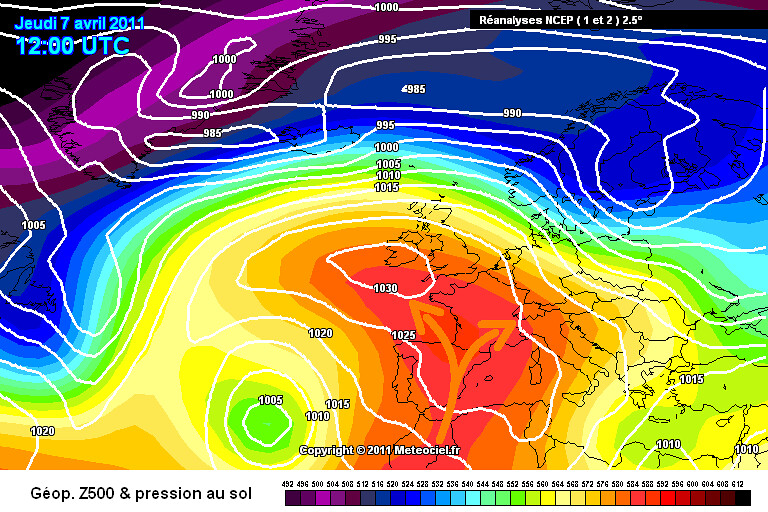carte de situation de la vague de chaleur précoce et des records du début avril 2011 météopassion