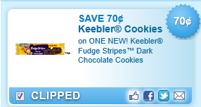 Keebler Fudge Stripes Dark Chocolate Cookies Coupon