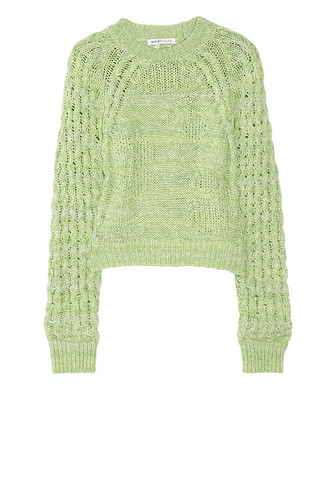 green knitted jumper chloe
