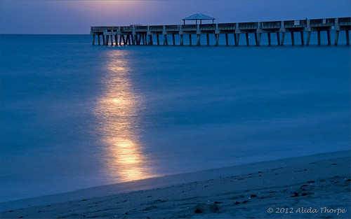 moonlite pier by Alida's Photos