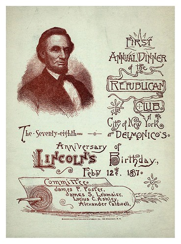 019-78TH ANNIVERSARY OF LINCOLN'S BIRTHDAY -1887-Portada del Menu-NYPL