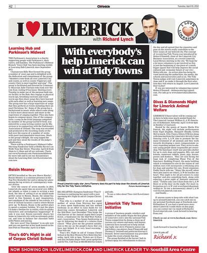 I Love Limerick Chronicle Column 10 April 2012 Page 1