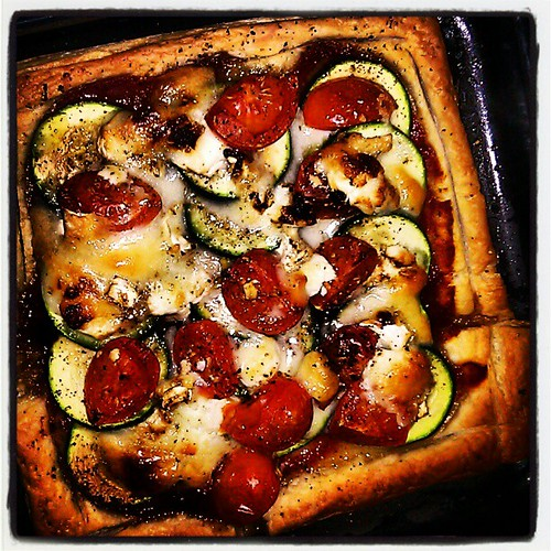 Courgette, Tomato and Goat's Cheese Tart