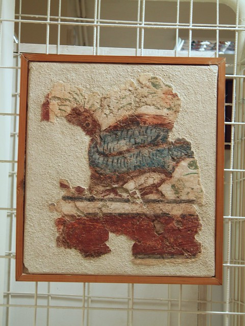 Part of a fresco from a grave found under the atrium of the cemetery basilica, Archaeological Museum, Dion